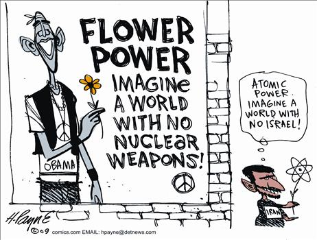 Obama Imagine A World Without Nuclear Weapons Cartoon