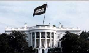 islamic flag on white-house