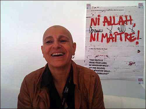 Nadia El Fani enfrentado fuertes críticas por parte de extremistas por su película sobre el laicismo.